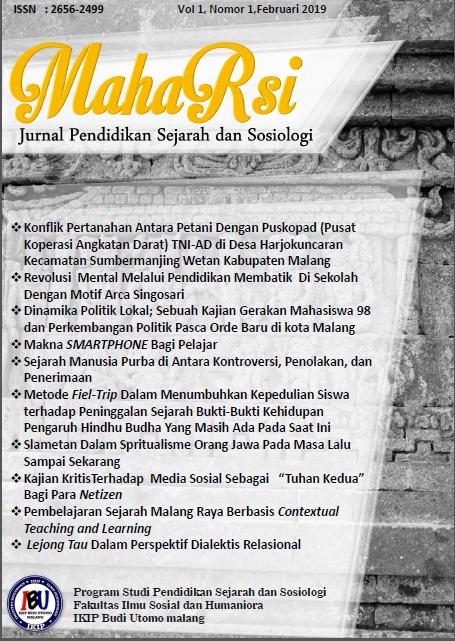 maharsi : Jurnal Pendidikan Sejarah dan sosiologi